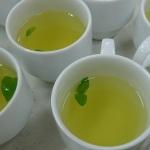 緑茶にミント